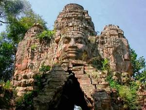 Angkor Wat temple in Cambodia, from Mui Ne, Vietnam