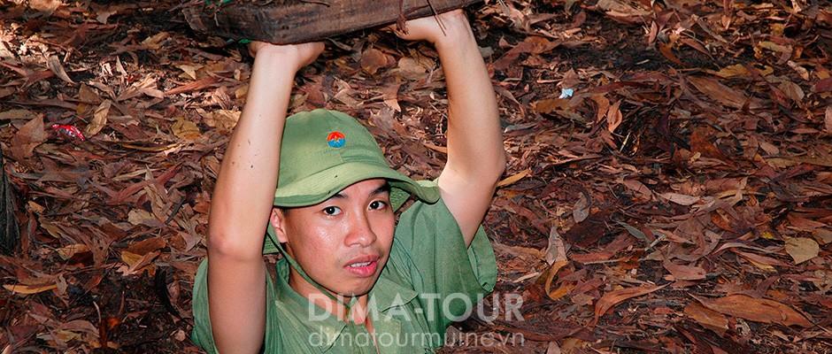 Cu Chi tunnels, Saigon, Vietnam