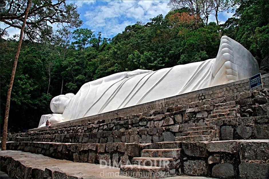 Reclining Buddha on the mount Ta Ku, Vietnam