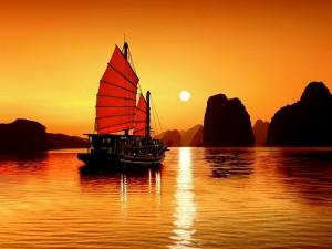 Ha Long bay in northern Vietnam from Mui Ne