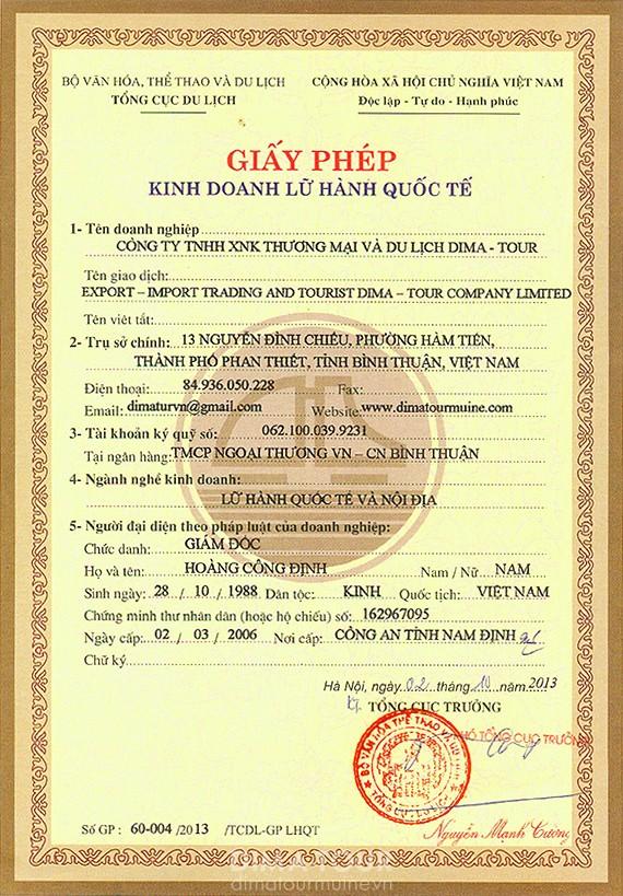 "Touristic company in Mui Ne Vietnam ""Dima-Tour """