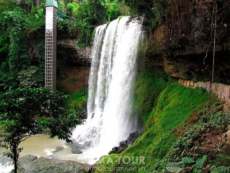 Waterfalls in Vietnam: Dambri and Dasara